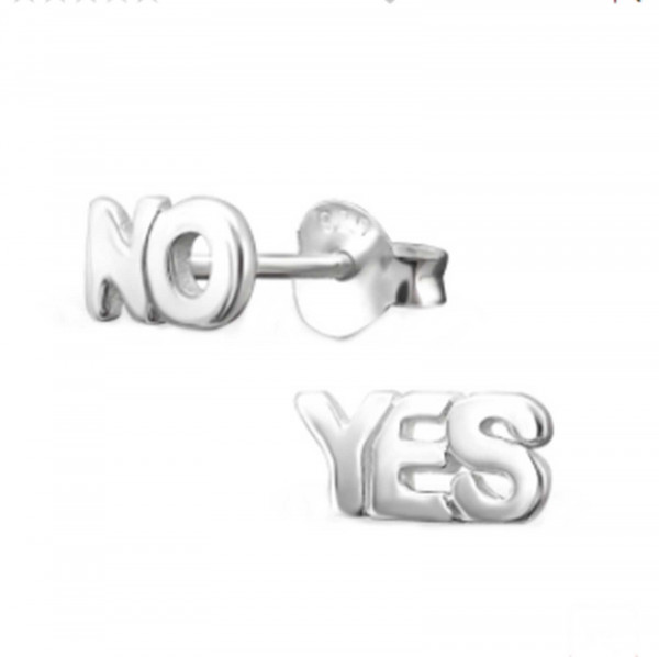 Ohrringe Yes & No 925 Silber
